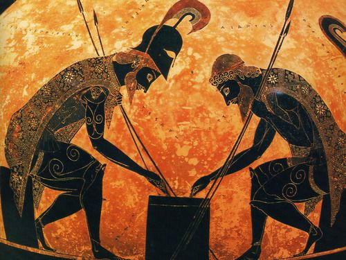 In Greek mythology, Achilles was a Greek hero of the Trojan War and the central character and greatest warrior of Homers Iliad. Achilles was said to be a demigod; his mother was the nymph Thetis, and his father, Peleus, was the king of the Myrmidons. Myrmidons were fierce warriors which mimicked ant behavior.