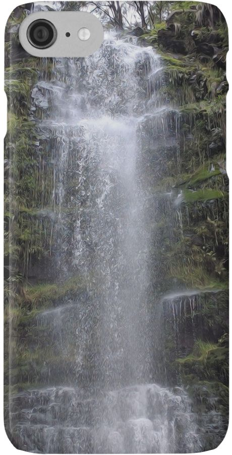 A kinda trippy iPhone case with a waterfall on it. Zoom in! It looks amazing