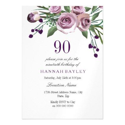 Best 25 90th birthday invitations ideas – 90 Birthday Invitations