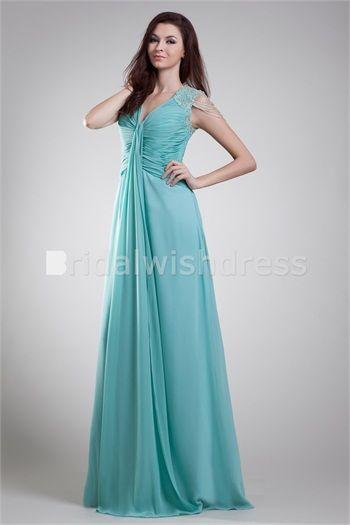 Pleats Military Ball Floor-Length Chiffon Elastic Woven Satin Special Occasion Dresses