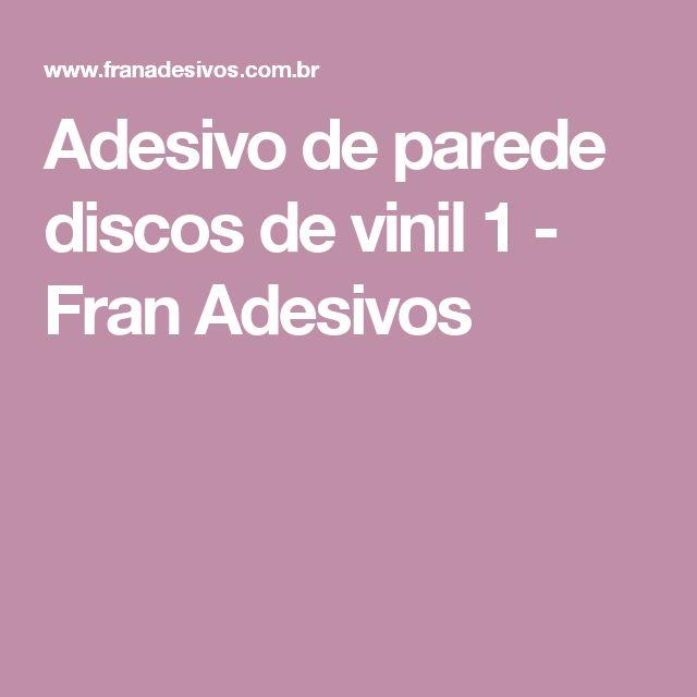 Adesivo de parede discos de vinil 1 - Fran Adesivos