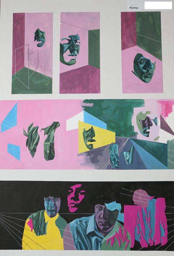 Top Art Exhibition - Painting » NZQA 2015 Kelly van der Hurk, Taieri College Board3