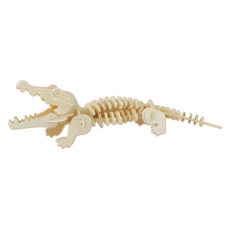 Maak een houten krokodil met deze 3D puzzel van Eichhorn. Druk de verschillende onderdelen uit de houten plaat, verbind ze aan elkaar en zie een 3D figuur van een krokodil verschijnen. Spelen met de 3D puzzel stimuleert de ontwikkeling van vormherkenning en het probleemoplossend vermogen. Inclusief handleiding. Afmeting: puzzel 23 x 18 cm - Eichhorn 3D Puzzel Krokodil