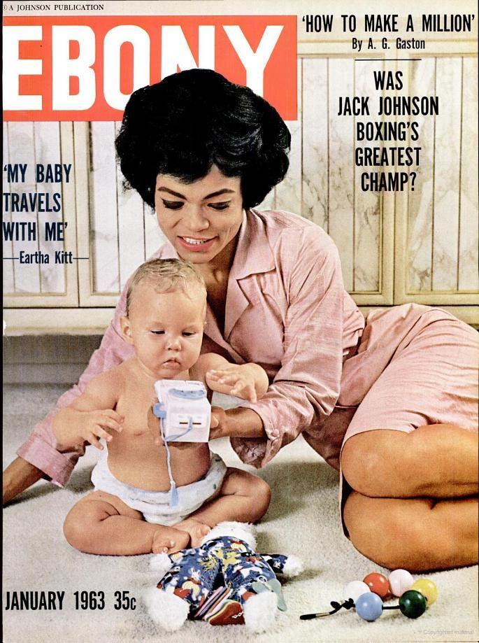 Ebony -Magazine January 1963 (Eartha Kitt)