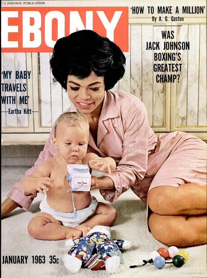 Ebony -Magazine January 1963 (Eartha Kitt)