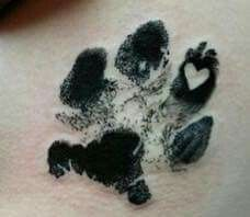Shepherd paw tattoo
