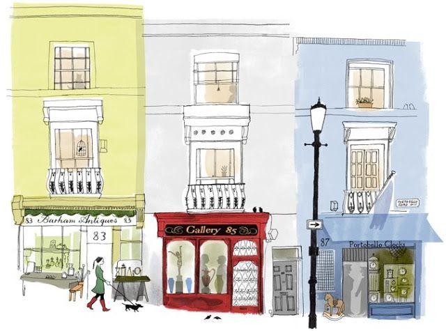 Немного Лондона: очаровательные иллюстрации |АНГЛОМАНИЯ