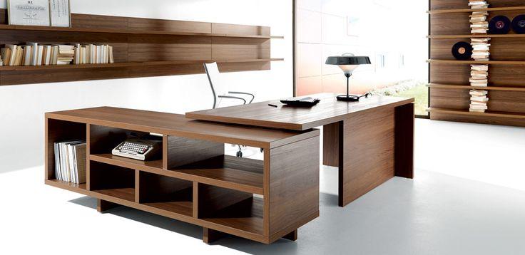 שולחן משרדי למנהלים Lithos מאת Della Rovere, מעצב Paolo Pampanoni