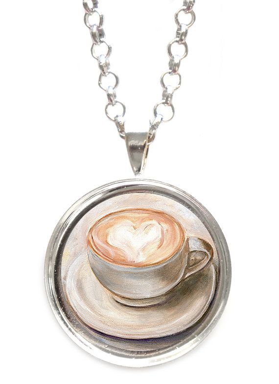 Cappuccino Pendant Necklace by ScentedSweets on Etsy