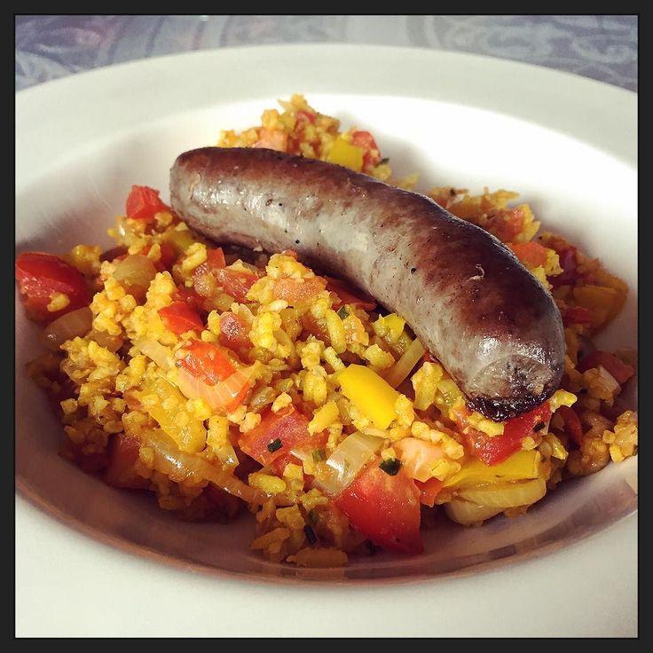 """""""Of je worst lust!"""" met kruidige rijst... ;-) #eten #foodporn #myview #rust"""