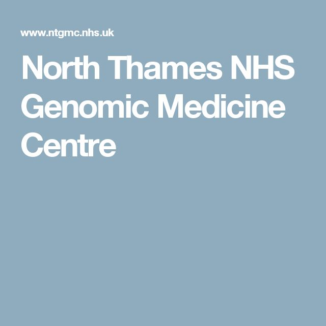 North Thames NHS Genomic Medicine Centre