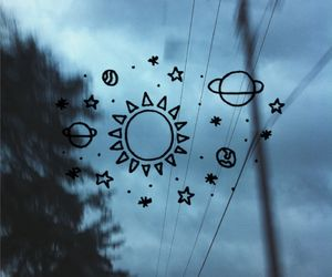 we look up, we see stars, moon, sun, sky, saturn, space, slipping, gone.