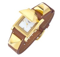 HERMES GOLD/BROWN MEDOR WATCH. Most awesome looking watch ever... Unable to be purchased or found anywhere!