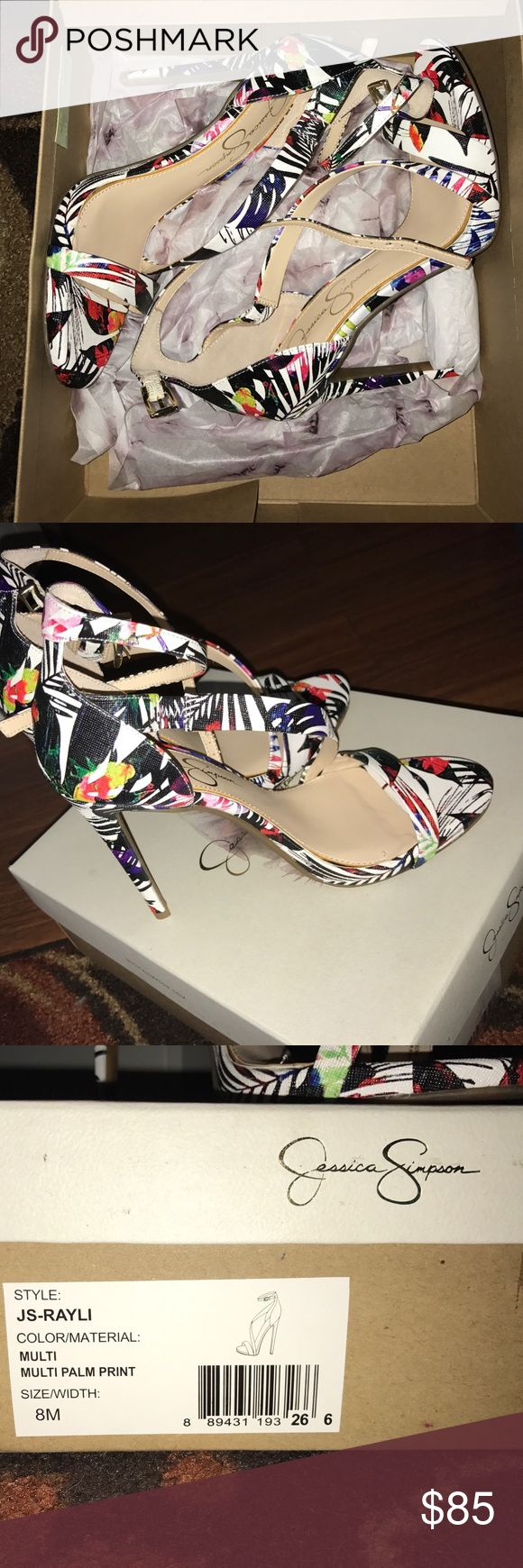 Jessica Simpson Multicolor Sandal Heel Jessica Simpson multicolored Sandal Heel. Brand new with box. Size 8. Jessica Simpson Shoes Heels