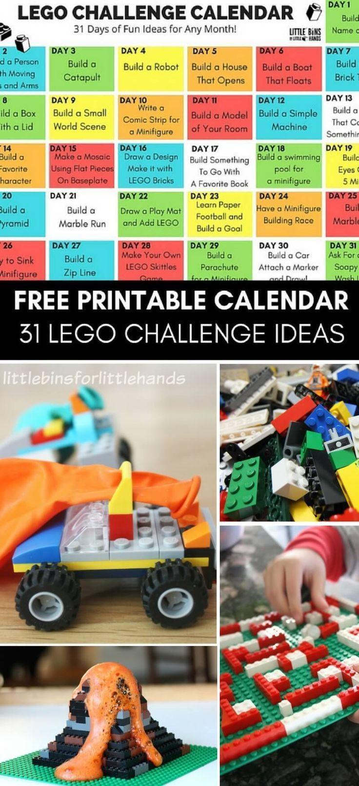 Printable Lego Challenges For Kids Lego Challenge Lego