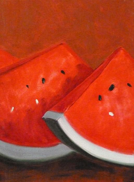 Watermelon Still Life Painting by Nancy Merkle; Original and Fine Art Reproductions