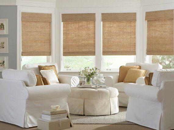 Bamboo Shades Jute Window Shades Woven Wood Shades Light Jute