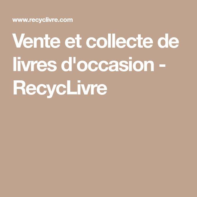 Vente et collecte de livres d'occasion - RecycLivre
