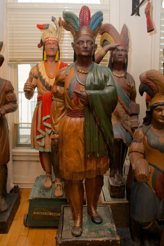 Antique Indian Tobacco Store Statues
