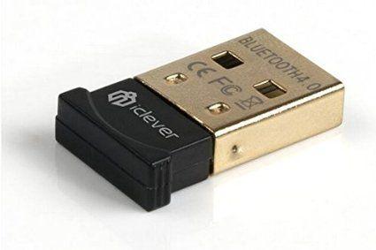 iClever® Dongle USB Bluetooth adaptateur/Mini clé USB Bluetooth 4.0 (portée 20m) avec faible consommation d'énergie IN-8510-40