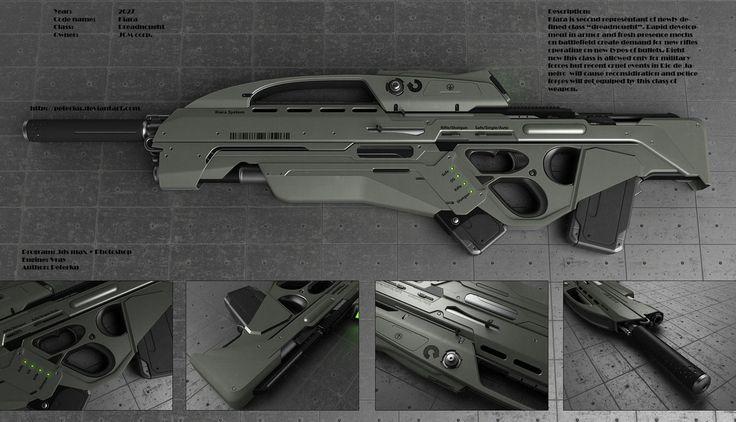 peterkus bullpup rifle and shotgun concept future