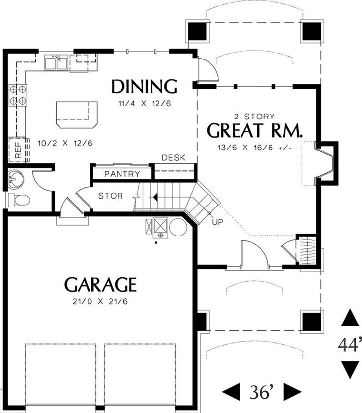 113 best house plans images – 2 Bedroom House Plans With Attached Garage