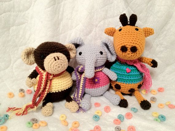 Crochet Patterns Jungle Animals : 17 Best images about Crochet - Safari Animals on Pinterest ...