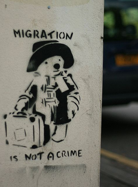 Paddington, Bristol; We all came from another country whether you're hispanic, european, african, asian, etc. We are all immigrants even if it was your ancestors, great grandparents, grandparents, parents or yourself.