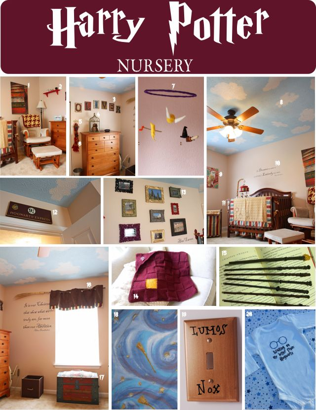 Seriously wish I would have thought of this when my kids were babies lol Harry Potter Nursery for children's first bedroom. Raise them to be a harry potter geek!