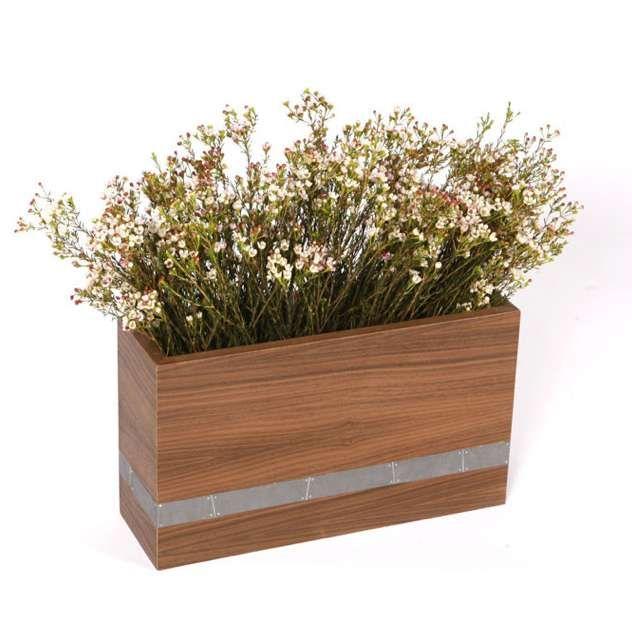 Image Of Wood Planter Box Decoration Modern Landscaping