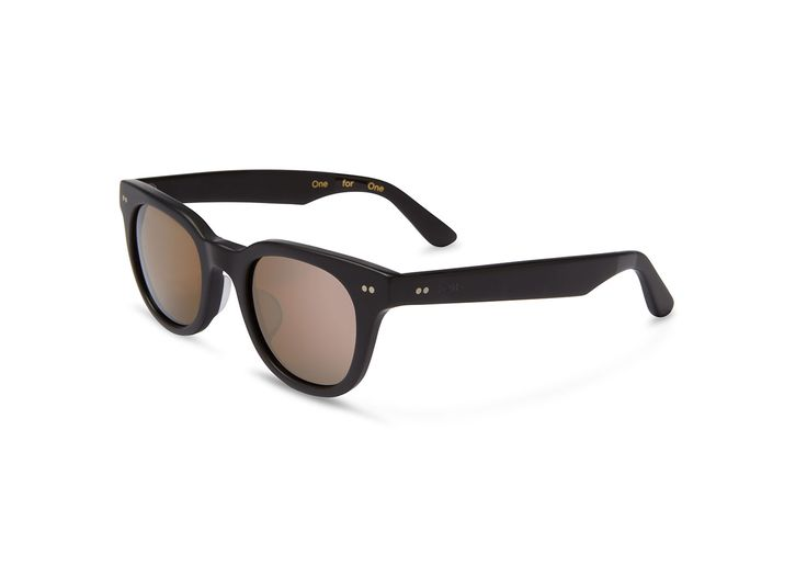 Chunky, trendy and unisex matte-black sunglasses that deliver wearable attitude.