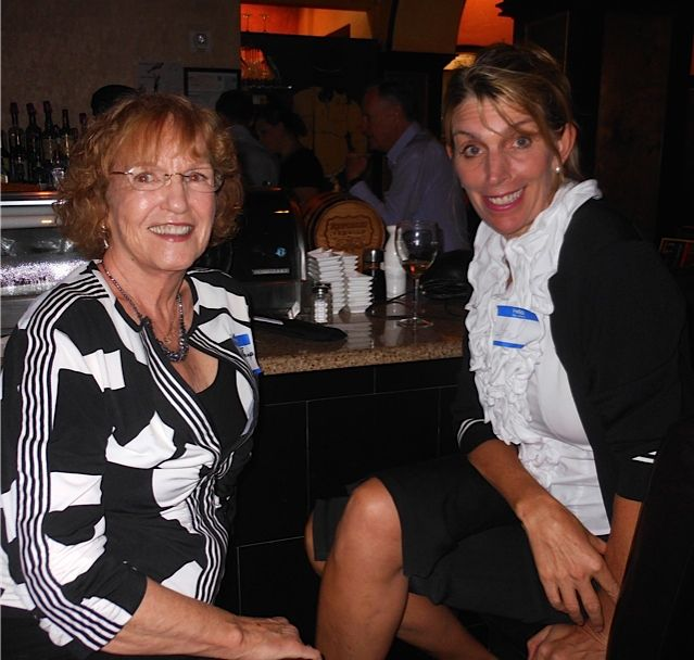 Janet Hill & Gail Lidinsky at the Tsunami Meet & Greet in downtown Sarasota in November 2013