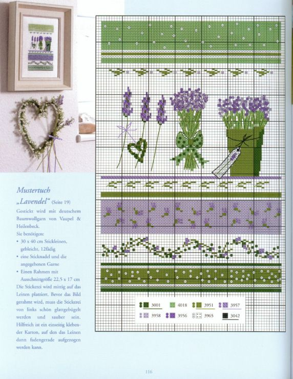 With the heart Book: summer fabric deco DIy & Cross Stitch Lavendel and Red gallerie! Gallery.ru / Фото #115 - Вышивка 44 - kuritsa-kusturitsa