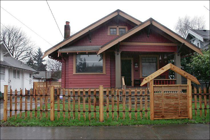 front yard fence idea from portland bamboo fencing back. Black Bedroom Furniture Sets. Home Design Ideas