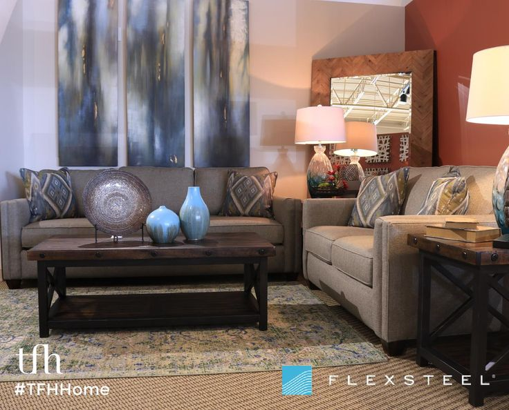 Our FlexSteel Furniture Hyacinth collection is simple, but far from basic! Including a sofa and loveseat, these pieces add a modern touch to your home with a contemporary look. All Flexsteel products include Blue Steel Spring Technology, built to last! #TFHHome