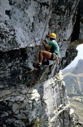 Rock Climbing, Bouldering, Canyoning or Kloofing and Hiking, Cape Town, South Africa. Table Mountain