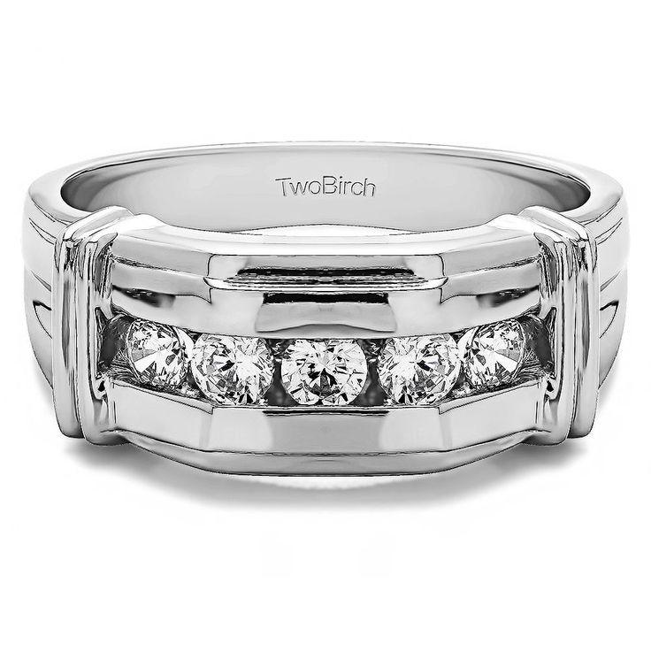 10k White Gold Men's 1/2ct TDW Diamond Unique Fashion Ring (G-H, SI1-SI2) (10k Yellow gold, Size 5.5)