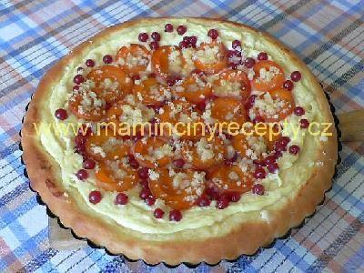 Meruňkový koláč s tvarohem
