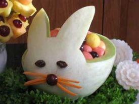 Melon bunny basket for Spring