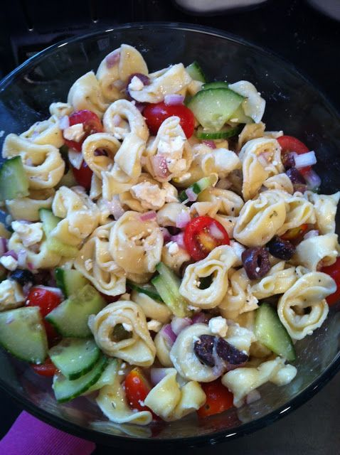 Greek Chicken Pasta Salad With Feta And Herbs, From Liz At The Lemon ...