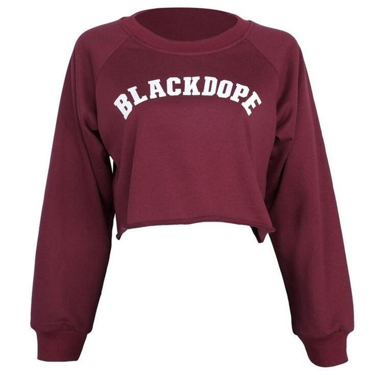 2016 Sexy Short Sweatshirt Long Sleeve Holes Hollow Out Loose Polerones Mujer Midriff Women Fashion Sweatershirt Crop Tops