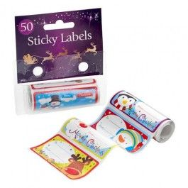 50 self adhesive sticker gift tags on a roll. Available in 2 cute designs.