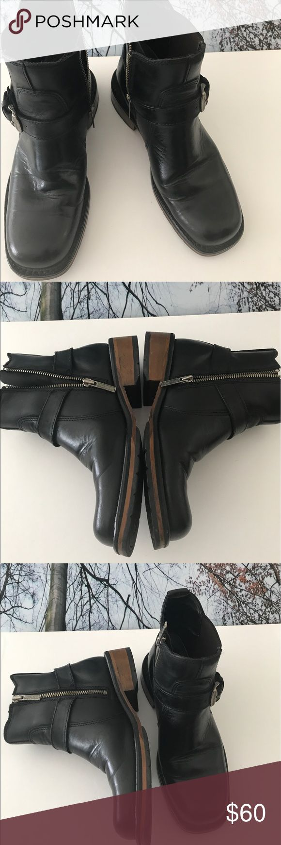 Boots Harley Davidson Boots in preowned, barely worn condition. Worn twice only. Harley Davidson Shoes Combat & Moto Boots