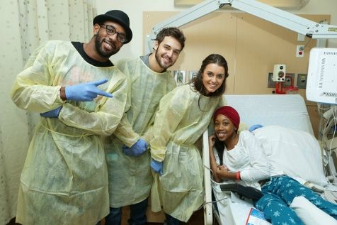 """With the new release of Summit Entertainment's STEP UP REVOLUTION, cast members Kathryn McCormick, Ryan Guzman and Stephen """"tWitch"""" Boss visited Children's Hospital Los Ange…"""