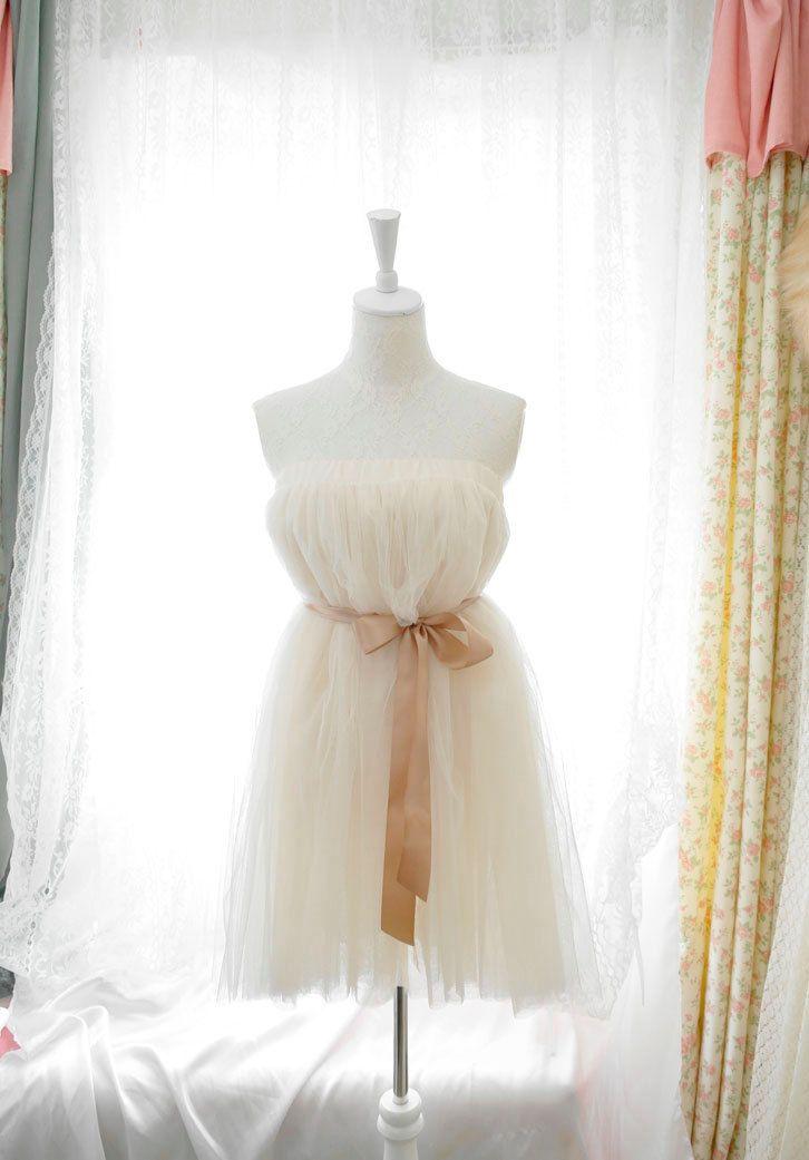 Sweet heart fairytale ballerina style beige ivory by miadressshop, $32.00