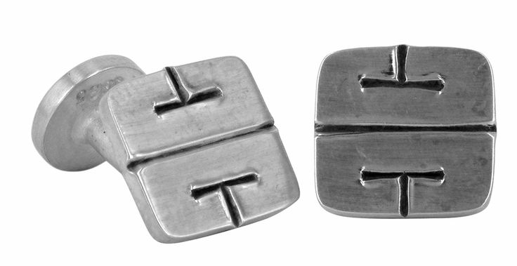 Mayam Motif cufflinks in sterling silver