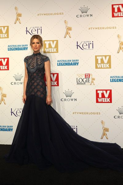 Emma Booth wears Philippa Galasso at the TV Week Logies Awards 2016