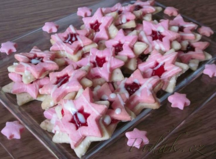 Píďák.cz - Recept - Orechovo - malinové hviezdičky