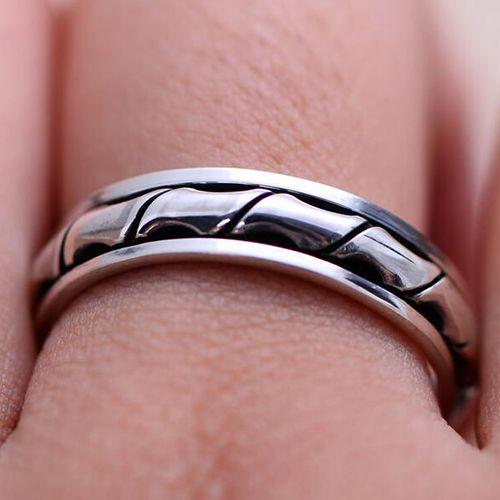 Men's Sterling Silver Spinner Ring