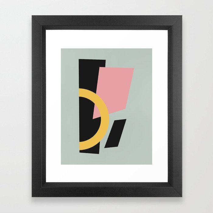 Art moderne abstrait Art Print   – Society6